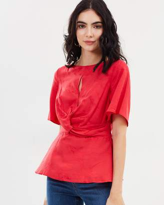 Miss Selfridge Jacquard Twist Blouse