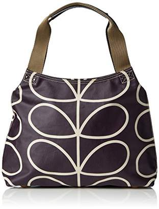 Orla Kiely Matt Laminated Linear Stem Classic Zip Shoulder