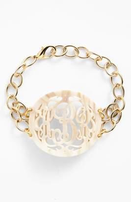 Moon and Lola 'Annabel' Large Oval Personalized Monogram Bracelet
