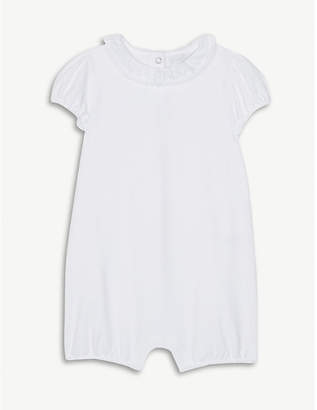 The Little White Company Lace collar cotton-blend bodysuit 0-24 months
