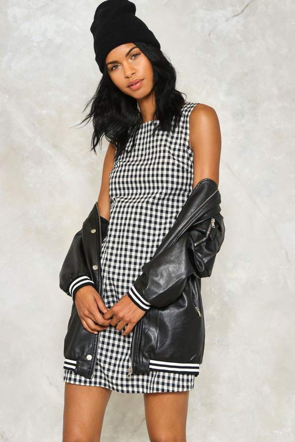 nastygal Be There Gingham Dress