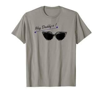Cat Eye Vintage Rockabilly Style Designs Retro Hey Daddy O Vintage Eyeglasses Rockabilly T-Shirt
