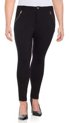 Calvin Klein Plus Mid-Rise Zip Pants