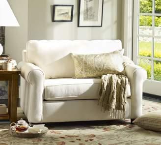 Pottery Barn Buchanan Roll Arm Upholstered Twin Sleeper Armchair