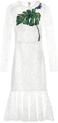 DOLCE & GABBANA Cordonetto-lace embellished dress $5,995 thestylecure.com