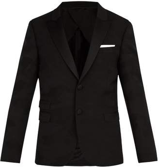 Neil Barrett Tonal Camouflage Jacquard Tuxedo Jacket - Mens - Black