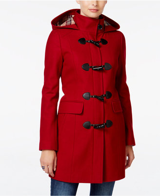Tommy Hilfiger Hooded Toggle Walker Coat $275 thestylecure.com