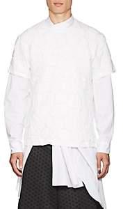 Comme des Garcons Men's River Rock-Embossed Cotton Jersey T-Shirt - White