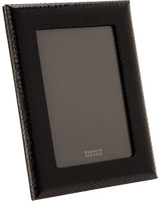 "Barneys New York Python-Embossed Studio 5"" x 7"" Picture Frame"