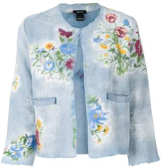 Avant Toi floral print cropped jacket