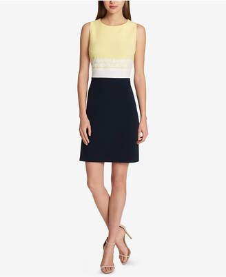 Tommy Hilfiger Sleeveless Colorblocked Sheath Dress