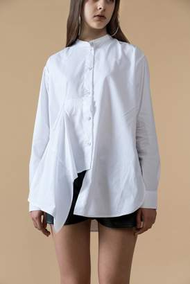 Genuine People Oversized Button Front Side Slits Shirt