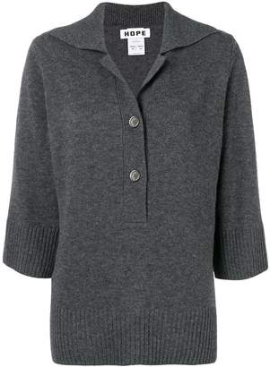 Hope front zipped jumper