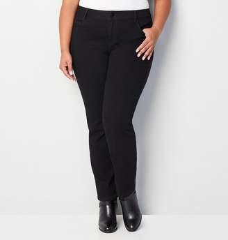 Avenue Plus Size 1432 Straight Leg Jean In Black