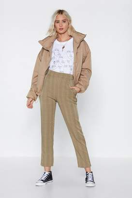 Nasty Gal Square in the World Check Pants