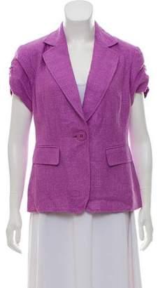 Lafayette 148 Short Sleeve Notch-Lapel Jacket w/ Tags
