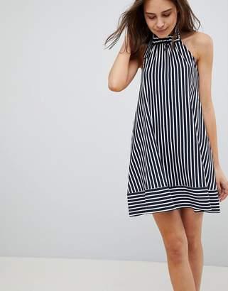 Asos DESIGN Halter Swing Sundress in Cut About Stripe