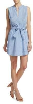 A.L.C. Merritt Sleeveless Tie-Waist Shirtdress