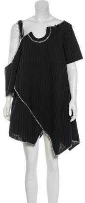 Au Jour Le Jour Wool Asymmetrical Shoulder Strap Dress w/ Tags