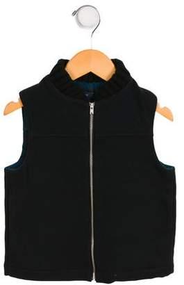 Makie Boys' Wool Zip-Up Vest