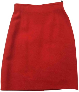 Georges Rech Red Wool Skirt for Women
