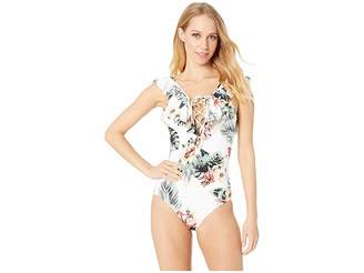 Roxy Printed Softly Love Moderate One-Piece Swimsuit