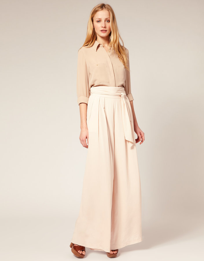 French Connection Palazzo Pants With Tie Belt