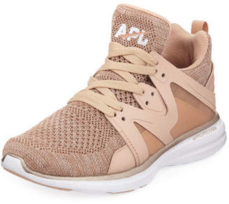 APL Athletic Propulsion Labs APL: Athletic Propulsion Labs Ascend Metallic Mid-Top Sneakers