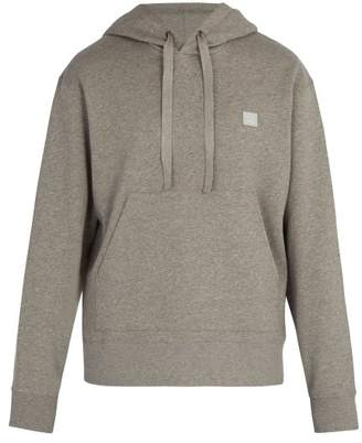 Acne Studios Ferris Face Cotton Hooded Sweatshirt - Mens - Grey
