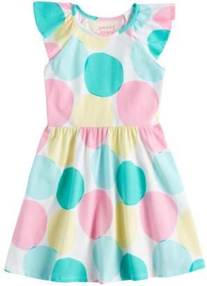Girls 4-10 Jumping Beans Flutter Sleeve Skater Dress