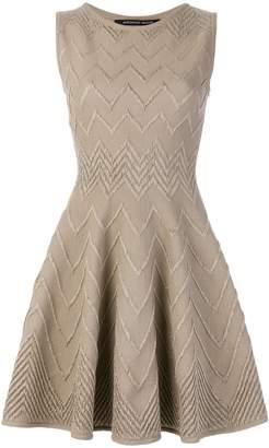 Valenti Antonino chevron-knit skater dress