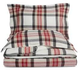 Distinctly Home Home Highland Plaid Flannel Cotton Duvet Cover Set