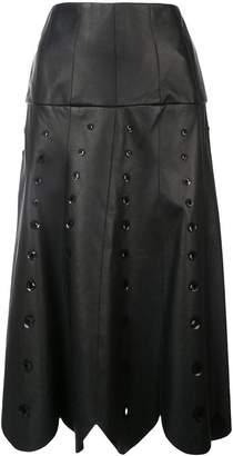 Oscar de la Renta sequin embroidered midi skirt