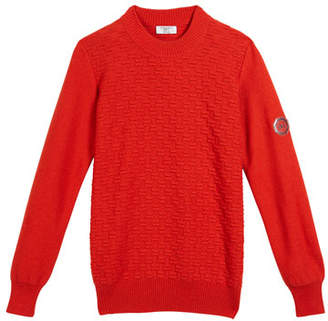 Stefano Ricci Textured Knit Cashmere Sweater, Size 12