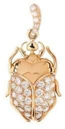 Aurelie Bidermann Diamond& 18K Yellow Gold Mini Beetle Pendant