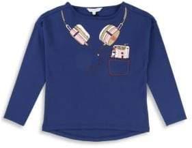 Little Marc Jacobs Little Girl's & Girl's Headphone Graphic T-Shirt