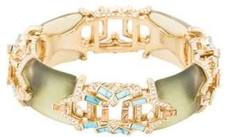 Alexis Bittar Crystal & Multistone Encrusted Hinge Bracelet
