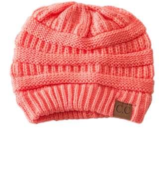 C.C. Coral Knit Beanie