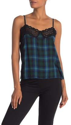 Walter W118 by Baker Mabel Plaid Lace Tank Top