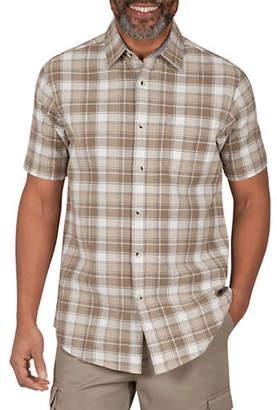 Haggar HERITAGE Short-Sleeve Plaid Sport Shirt