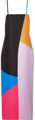 Mara Hoffman Sena Color-block Organic Cotton-voile Maxi Dress - Baby pink