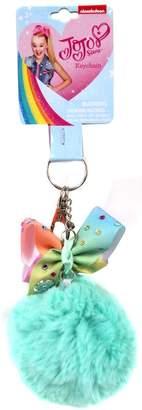 Jo-Jo JoJo Siwa Pastel Rainbow Bow with Faux Fur Ball Bag Keychain