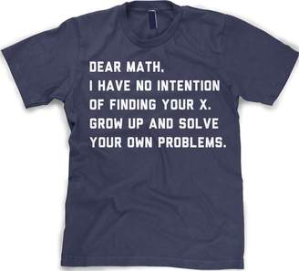 Crazy Dog T-shirts Crazy Dog Tshirts Youth Solve Your Own Problems Math T Shirt funny school tee for kids L