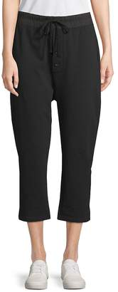 James Perse Women's Slouchy Cropped Sweatpants