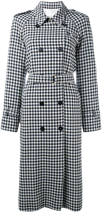 Sonia RykielSonia Rykiel check print coat