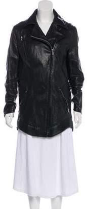 Theyskens' Theory Zip-Up Long Sleeve Coat