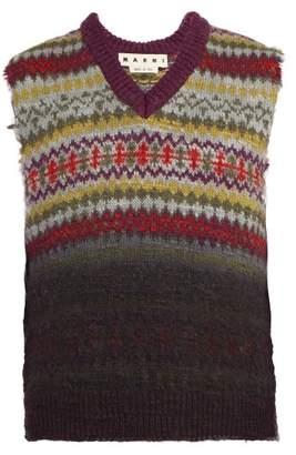Marni Fair Isle Sleeveless Wool Sweater - Mens - Multi