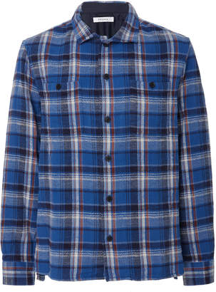 Frame Plaid Flannel Shirt Jacket