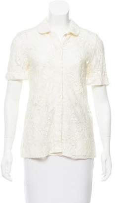 Marc by Marc Jacobs Floral Guipure Lace Top