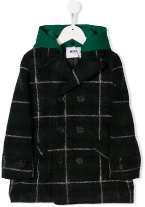 MSGM (エムエスジーエム) - Msgm Kids plaid hooded coat